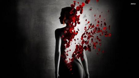 rose-petals-and-woman-silhouette-digital-art-hd-wallpaper-68807